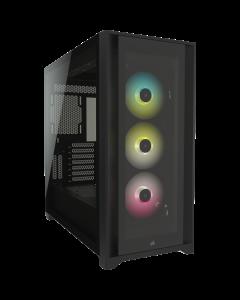 Corsair iCUE 5000X RGB Tempered Glass Mid - Black
