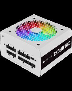 CX Series CX650F RGB White 650 Watt 80 Plus Bronze Certified Fully Modular RGB White PSU
