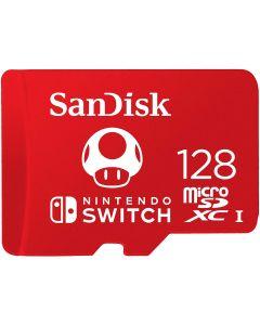 SANDISK MICROSDXC UHS-I CARD FOR NINTENDO 128GB - NINTENDO LICENSED PRODUCT, RED