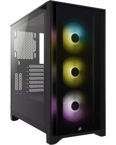 Corsair, CASE ATX iCUE 4000X Black Window RGB
