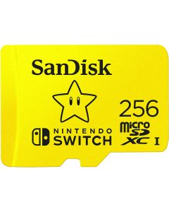 SanDisk microSDXC UHS-I card for Nintendo 256GB - Nintendo licensed Product, Yellow