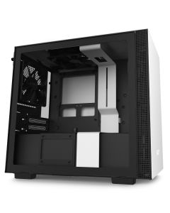 NZXT H210 Mini-ITX Case with Tempered Glass - White/Black