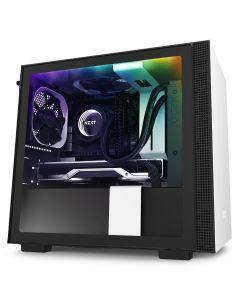 NZXT H210i Mini-ITX Case with Lighting and Fan control - White/Black