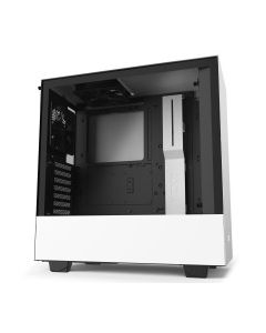 NZXT H510 Compact Mid-Tower Case with Tempered Glass - White/Black