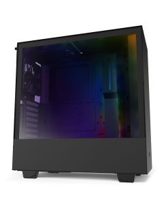 NZXT H510i Compact Mid-Tower with Lighting and Fan Control - Black