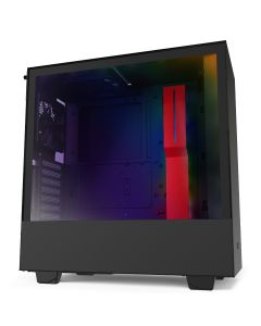 NZXT H510i Compact Mid-Tower with Lighting and Fan Control - Black/Red