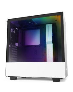 NZXT H510i Compact Mid-Tower with Lighting + Fan Control - White/Black