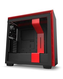 NZXT H710 Mid-Tower Case with Tempered Glass - Black/Red