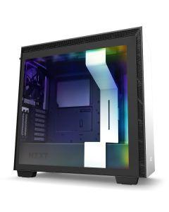 NZXT H710i Premium ATX Mid-Tower w/Lighting + Fan Cont - White/Black