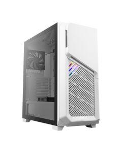 Antec DP502 FLUX RGB Gaming Case w/ Tempered Glass Window, ATX, No PSU, 5 x Fans (3 Front ARGB), Advanced Ventilation, White