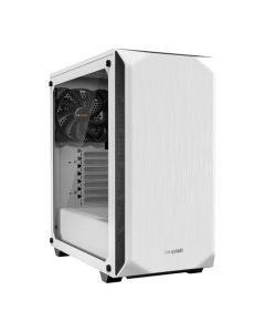 Be Quiet! Pure Base 500 Gaming Case w/ Window, ATX, No PSU, 2 x Pure Wings 2 Fans, PSU Shroud, White