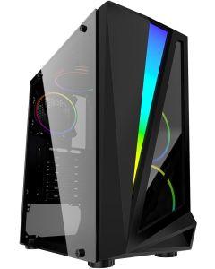 Mars ARGB Black Gaming Case Glass Window USB3.0 HD Audio EPE 4 Fans MB Sync
