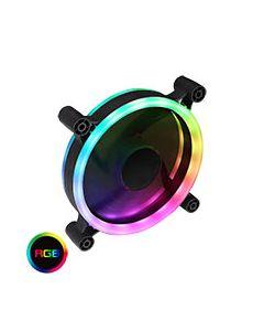 Raider Dual-Ring 16 LED 120mm Rainbow RGB Fan 5pin