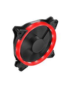 OEM Red Ring 12cm Fan 4pin Molex 3pin White Box