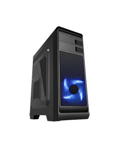 Hero Mid-Tower Case with 1 x 12cm Front Blue LED Fan & 1 x USB3 with Side Window