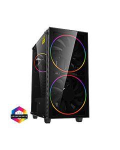 Black Hole ARGB Gaming Case 2x 20cm + 1x 12cm ARGB Fans 1x ARGB Hub