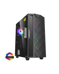 Diamond Black ARGB Gaming Case 1 x ARGB Fan 1 x ARGB LED Strip