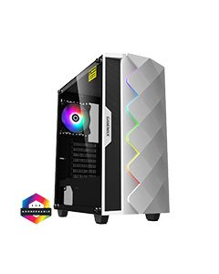 Diamond White ARGB Gaming Case 1 x ARGB Fan 1 x ARGB LED Strip