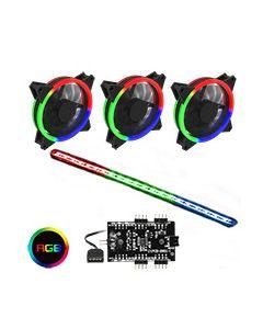 RGB Kit 3x Velocity Fans 1x Viper Strip 1x Hub 4pin Sync Brown Box
