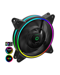 Razor 12cm Rainbow ARGB Fan RTB 3pin M&F Aura Header 3pin/4pin Power