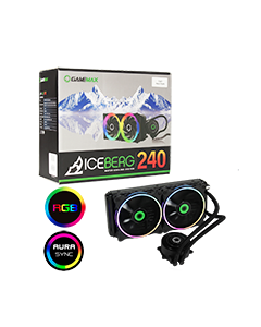 Iceberg 240mm ARGB Water Cooling System 3pin AURA Sync