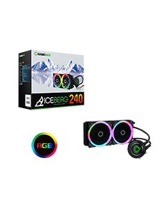 Iceberg 240mm Water Cooling System with 7 Colour PWM Fans