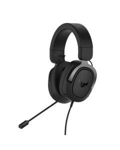 Asus TUF Gaming H3 7.1 Gaming Headset, 3.5mm Jack, Boom Mic, Surround Sound, Deep Bass, Fast-cooling Ear Cushions, Gun Metal
