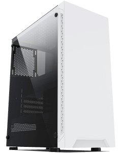 IONZ KZ08 Arctic White with Tempered Glass Side Panel ATX Case