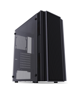 PC COMPUTER ATX MID TOWER GAMING CASE -iONZ KZ16 BLACK - TEMPERED GLASS - FRONT VENTED FOR MAXIMUM AIRFLOW PERFORMANCE