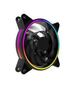 ionz Dual Ring RGB Fans with built in controller Pack of Three
