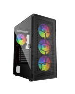 PC Gaming Case ATX iONZ Hex Pro Gamer Edition KZ24 ARGB - Hinged Tempered Glass Side - High Airflow Mesh front